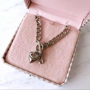 Juicy Couture Silver Starter Charm Necklace